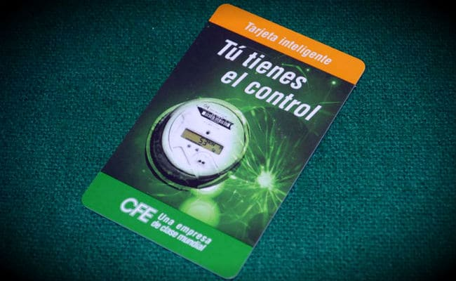 tarjeta inteligente CFE